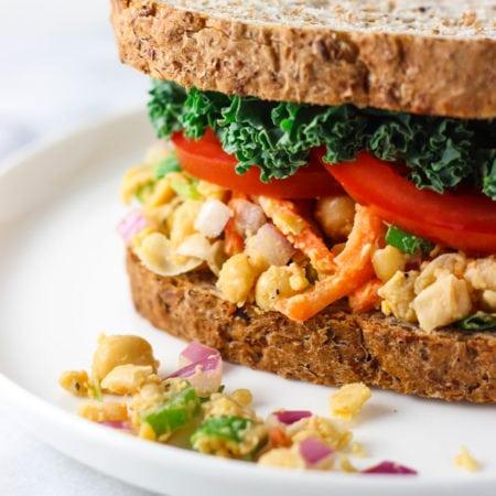 Health Mashed Chickpea Salad-5