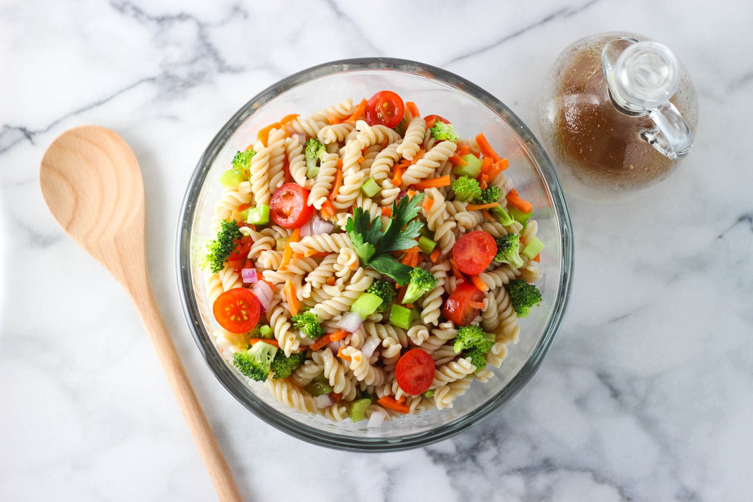 Healthy Italian Pasta Salad That Is Great For Work School Or Even A Pool Party