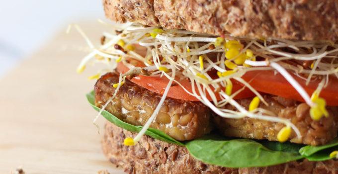 Sesame Tempeh Sandwich