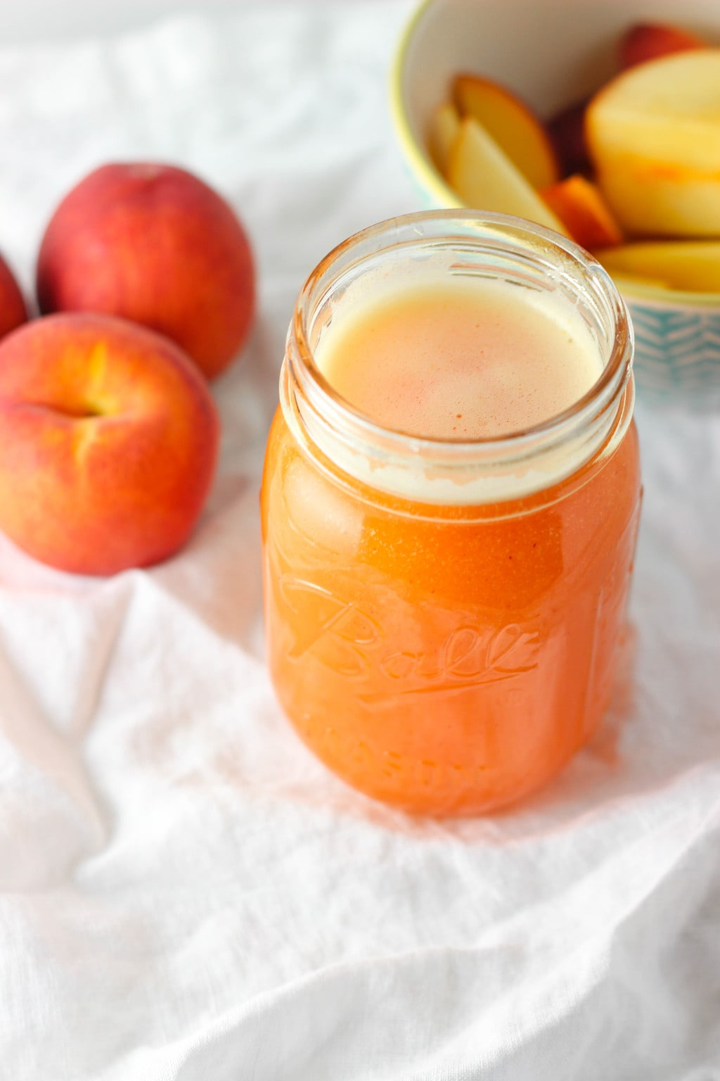 Single Serving Peach Lemonade - Exploring Healthy Foods