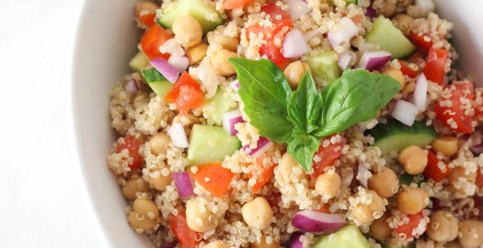 Vegetable Quinoa Chickpea Salad