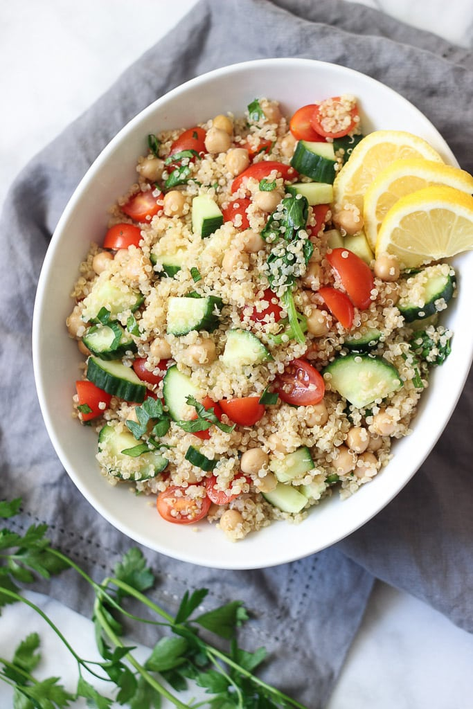 Quinoa tabbouleh exploring healthy foods vegan quinoa tabbouleh recipe before easy dinner to make for any vegetarian or vegan guests forumfinder Image collections