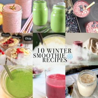 10 WINTER SMOOTHIE RECIPES! All recipes have ingredients that are easily accessible during the winter time!