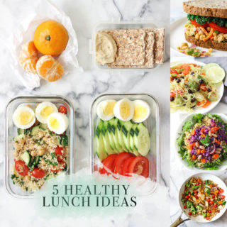 5 healthy lunch ideas that can easily be brought to work or school!