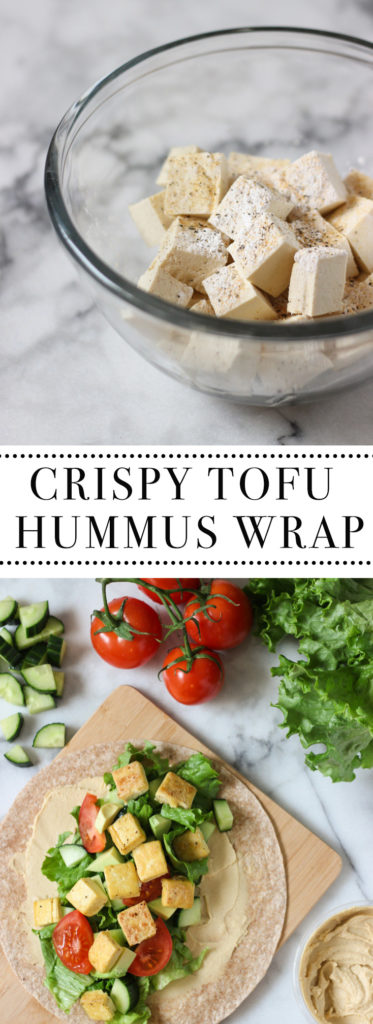 Crispy Tofu Hummus Wrap recipe is the perfect healthy lunch idea! Easy ...