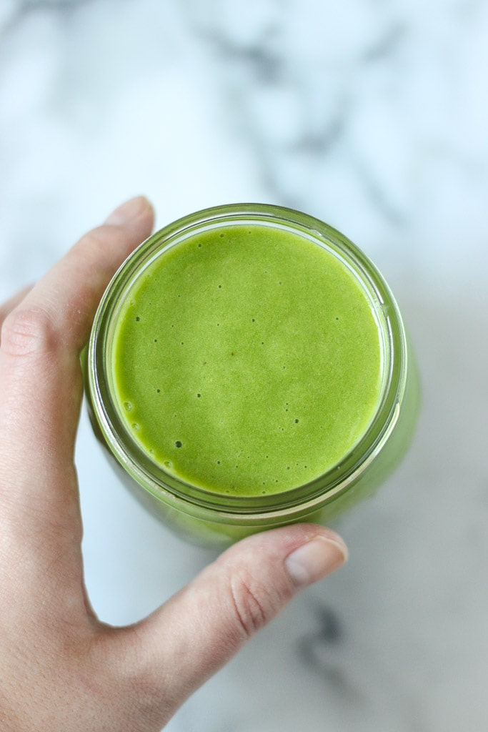 Everyday Green Smoothie recipe is made with fresh ingredients and protein powder to get you through the morning or even post workout! Recipe is vegan, vegetarian, gluten-free and dairy-free. Exploring Healthy Foods