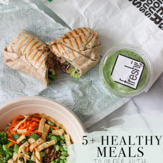 5+ Healthy Meal Ideas that can be ordered through SkipTheDishes!  Post also includes a giveaway open to Canada & US! Exploring Healthy Foods