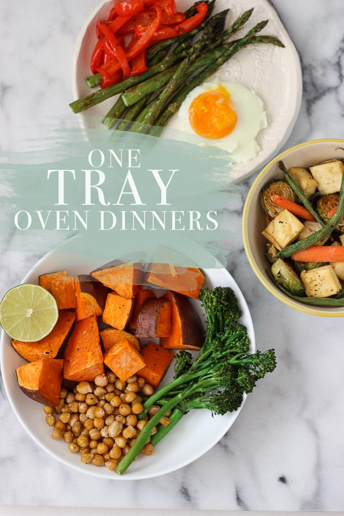 One tray oven dinners 3 recipe ideas exploring healthy foods one tray oven dinners healthy eating really is this easy pick your veggies forumfinder Choice Image