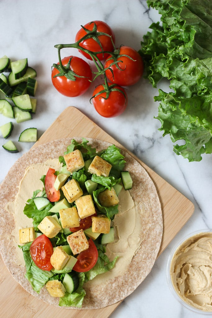 Crispy tofu hummus wraps lunch idea exploring healthy foods crispy tofu hummus wrap recipe is the perfect healthy lunch idea easy to make forumfinder Gallery