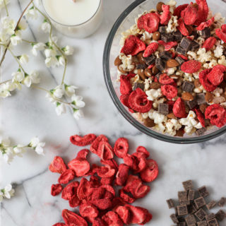 Easy and Healthy Valentine's Day snack idea! This recipe is easy, sweet and salty! This recipe also tastes great year round! Fully vegan. Exploring Healthy Foods