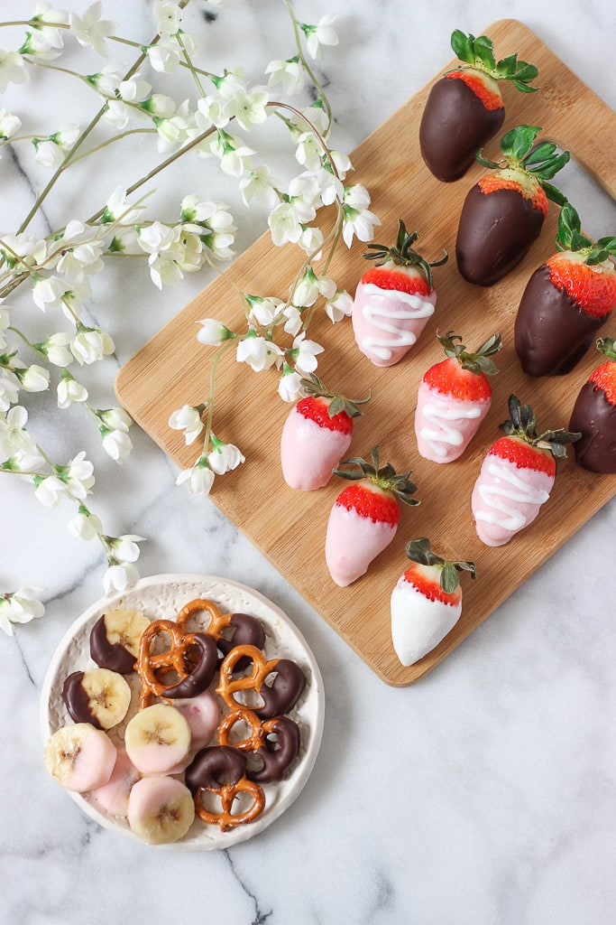Sweet dessert that is easy to make and a healthier dessert alternative! Great for Valentine's Day or any time of the year! Try strawberries dipped in yogurt or dark chocolate! Exploring Healthy Foods