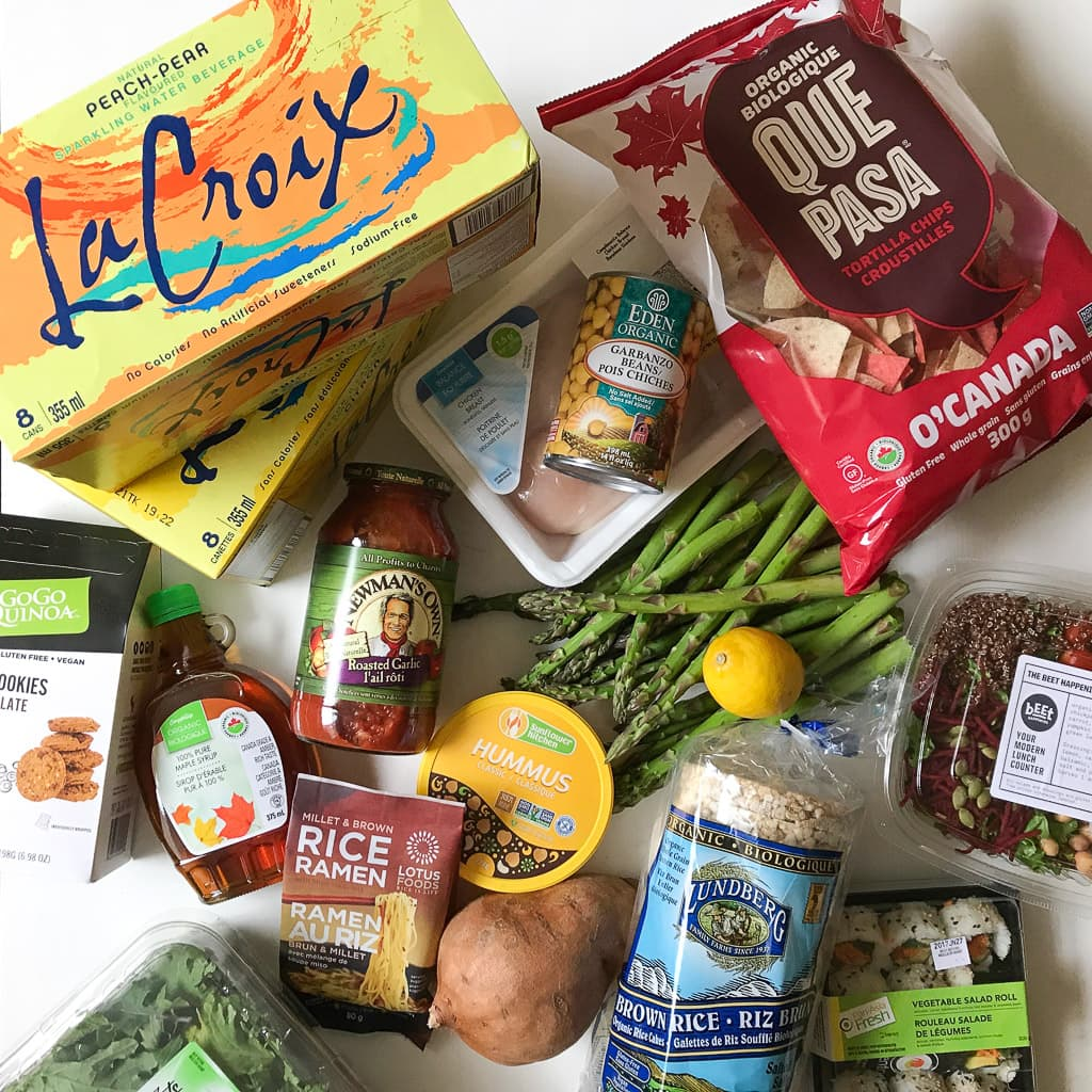 HEALTHY GROCERY HAUL AND MEAL INSPIRATION POST. Lots of healthy foods including snacks to bring on a road trip!
