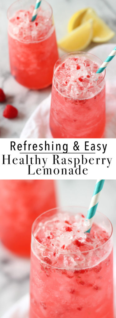 QUICK & EASY RASPBERRY LEMONADE RECIPE! Enjoy the outdoors with this refreshing, healthy and easy to make Raspberry Lemonade Recipe!