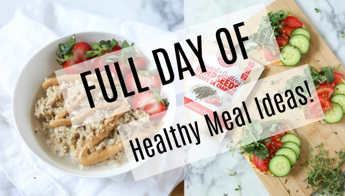 FULL DAY OF HEALTHY MEAL IDEAS!! These recipes take minimal effort yet are nourishing! Breakfast, post-workout, lunch, snack, dinner and more! I've got you covered!